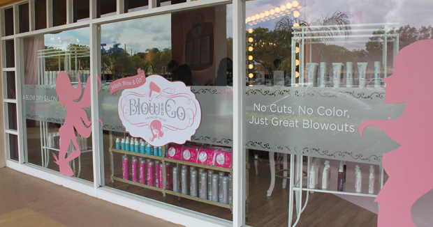 Front of Blow and Go blow dry bar