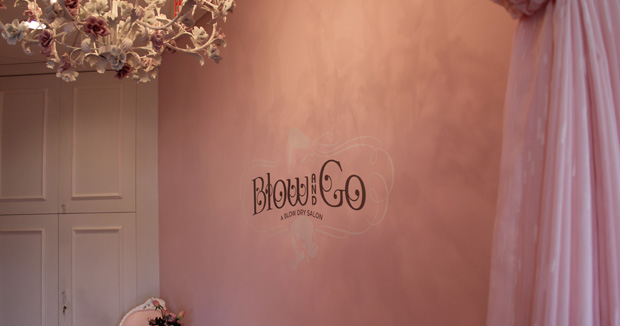 Blow and Go all sign inside blow dry bar